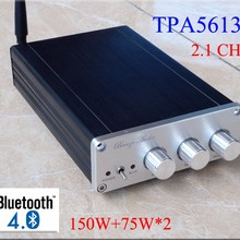 New Breeze audio BA10C TPA5613 Hifi 2.1 Bluetooth 4.0 75W*2+150W Subwoofer Digital Audio Power Amplifier Aluminum Amplifier hot