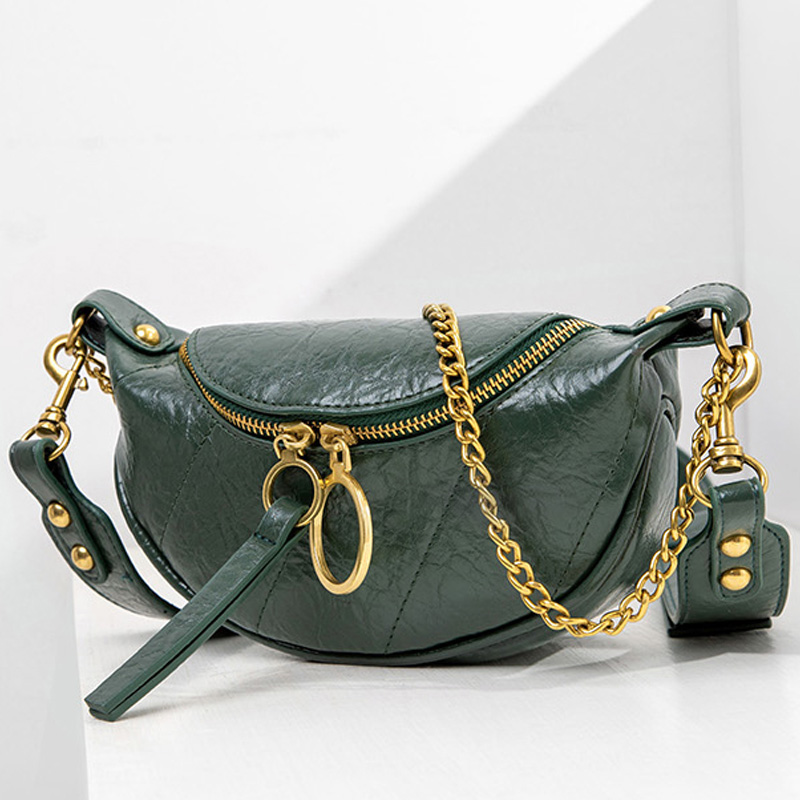 Jin Mantang Handbag Purses Ring Chain Crossbody Bag For Women Small Shoulder Messenger Bags Fashion Quality Leather Lady Travel
