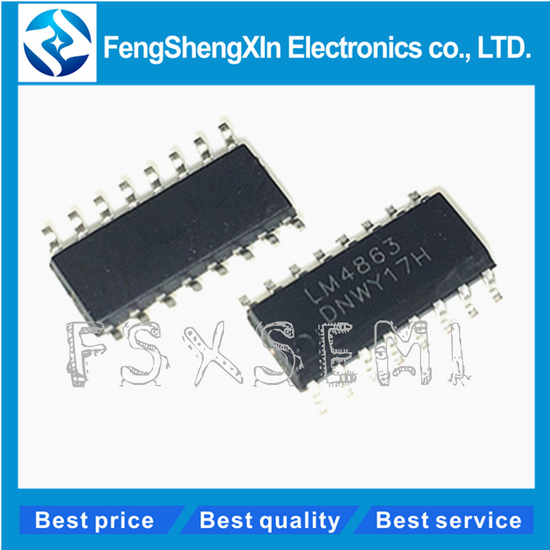 100 pçs/lote LM4863S LM4863 LM4863N SOP SOP-16 Two-way amplificador de áudio IC