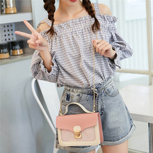 2020 Fashion New Handbag High quality PVC Transparent Women Bag Holographic Square Phone Pouch Chain Shoulder bag sac main A40(China)