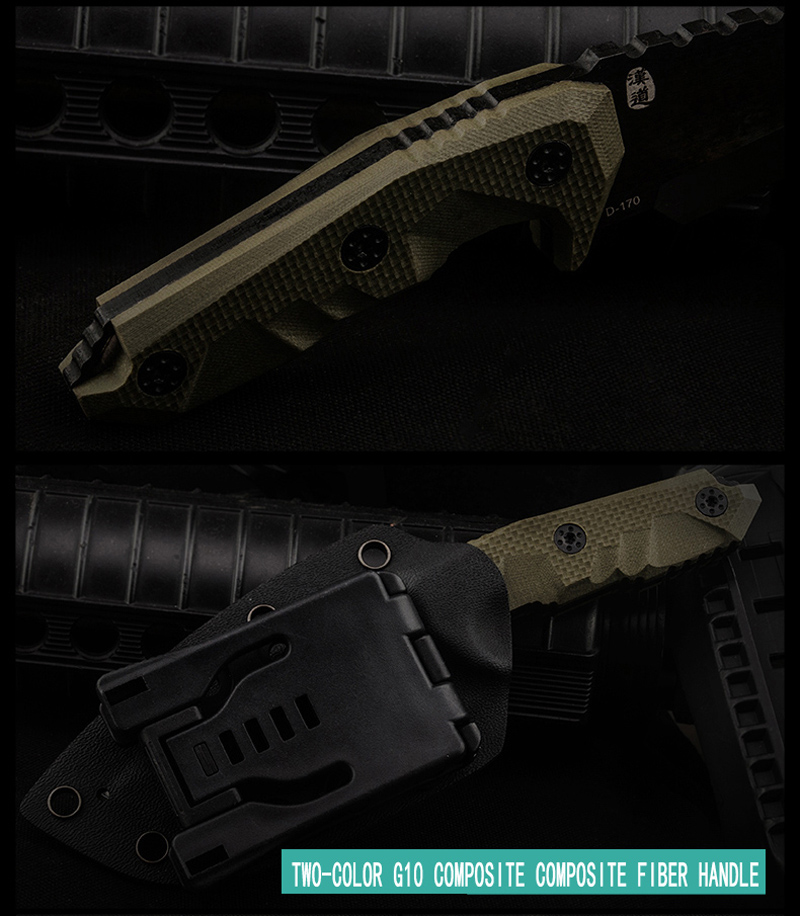 HX OUTDOORS D2 cuchillo G10 mango D2 hoja de acero táctico cuchillo - Herramientas manuales - foto 5