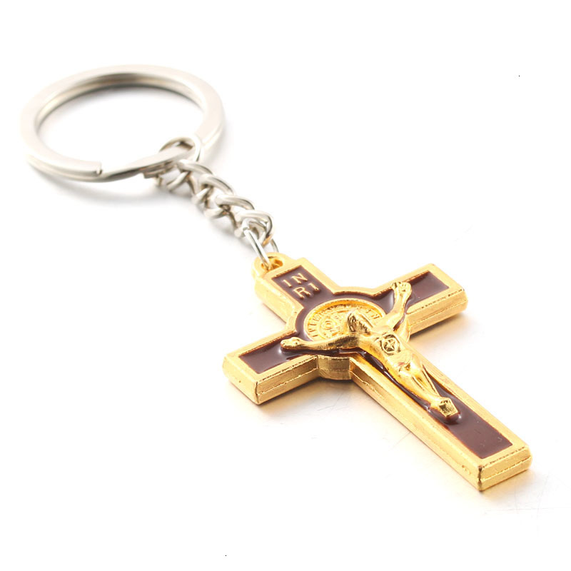 bag SILVER NECKLACE /& KEYRING Small Crucifix Charm Pendant Gift