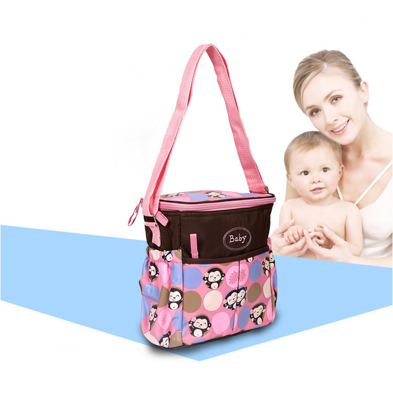 Cartoon Pattern Mummy Bag Small Portable Messenger Bag Multi-function Fashion Maternal And Child Package
