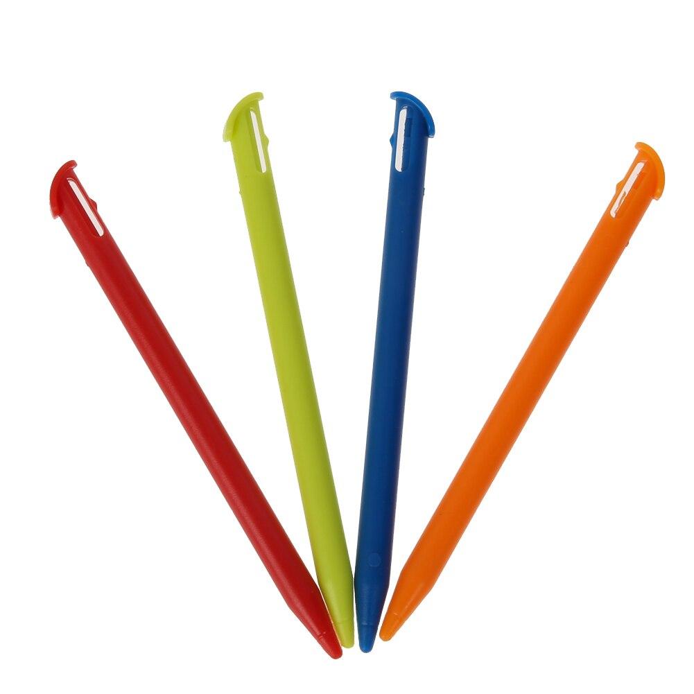 4 шт. многоцветный пластиковый стилус для сенсорного экрана, портативный стилус, карандаш, набор для новых Nintendo 3DS XL LL