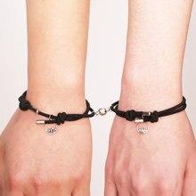 NIUYITID – Bracelet attrayant fait à la main, breloque de Couple d'amoureux, bijoux d'amitié, vente en gros, 2021