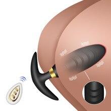 Vibromasseur Anal pour femmes et hommes, masseur de Prostate, télécommande sans fil, prise anale, produits intimes, jouets sexuels pour adultes et homosexuels
