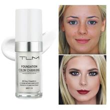 TLM Color Changing Weightless Foundation 30ml Concealer Cover  Cream Makeup Base Warm Skin Tone Women Girls SPF15