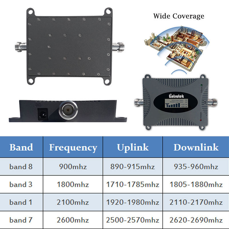 Lintratek 2600 B7 4G LTE 2600mhz celular amplificador repetidor 3G 2100 WCDMA GSM 900, 1800 mhz, 4g LTE amplificador de señal de antena sk - 2