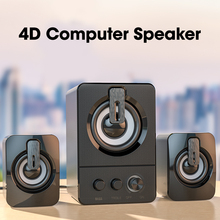 Computer Speaker Wired Subwoofer Laptop Stereo-Surround Deep-Bass Aux 3 for PC 3D Desktop