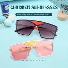 2020 Square Metal Kids Sunglasses Children Brand Designer Shades Vintage Girls