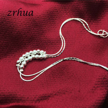 Bohemia 925 Silver Anklets For Women Multilayer Beads Pendant Anklet Sexy Foot Jewelry Best Gift Christmas Bijoux Decoration 5