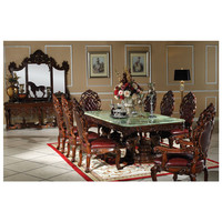 Jade top solid wood 2.4m dining table set dining chair home furniture Esstisch set esszimmer stuhl hause möbel GH233