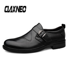 Buy CLAXNEO Man Formal Shoes Genuine Leather Dress Shoe Male Oxfords Mens social Footwear Slip on big size directly from merchant!