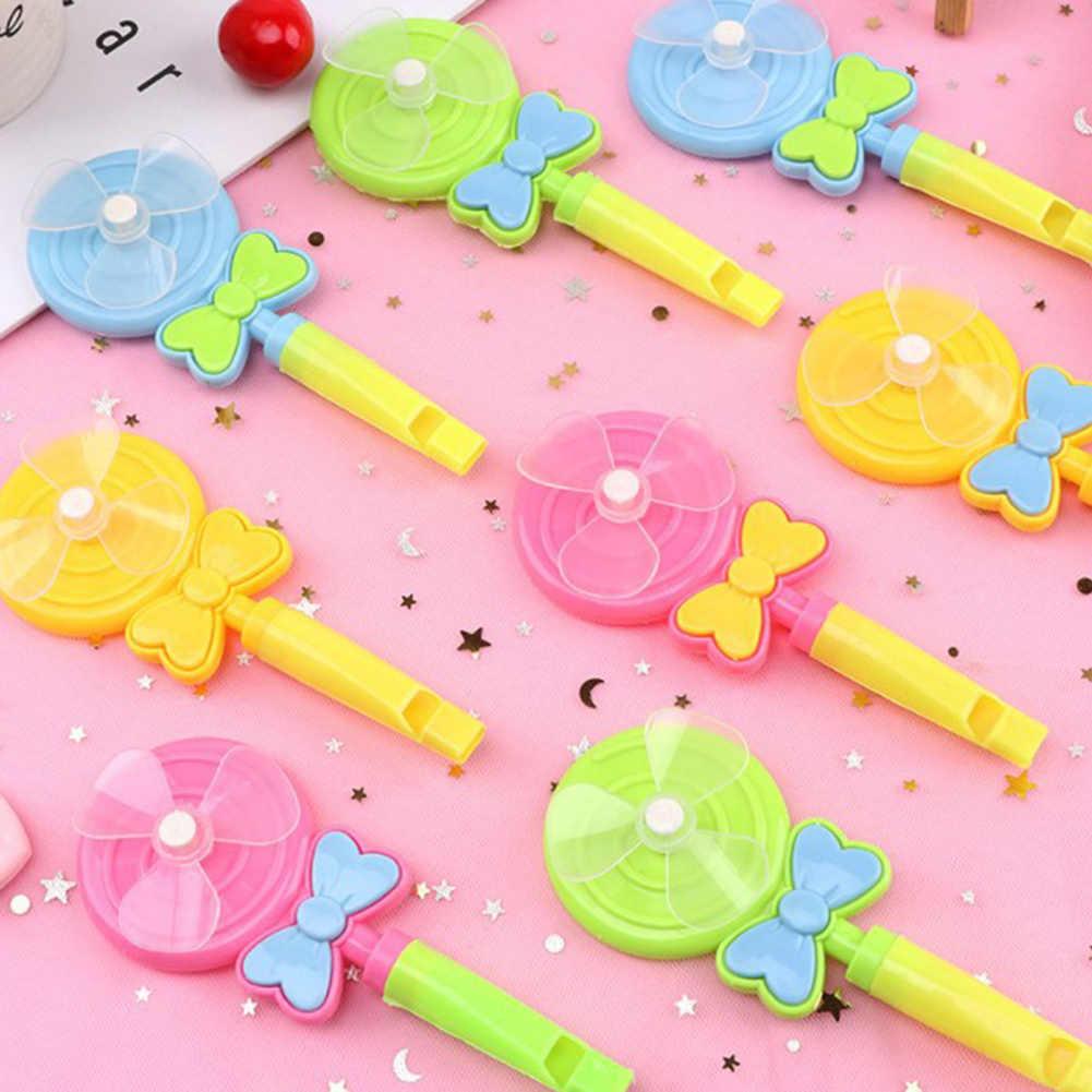 4Pcs Kinder Lollipop Form Windmühle Pfeife Musical Entwicklungs Outdoor Spielzeug Outdoor spielzeug kunststoff lollipop form Leichte
