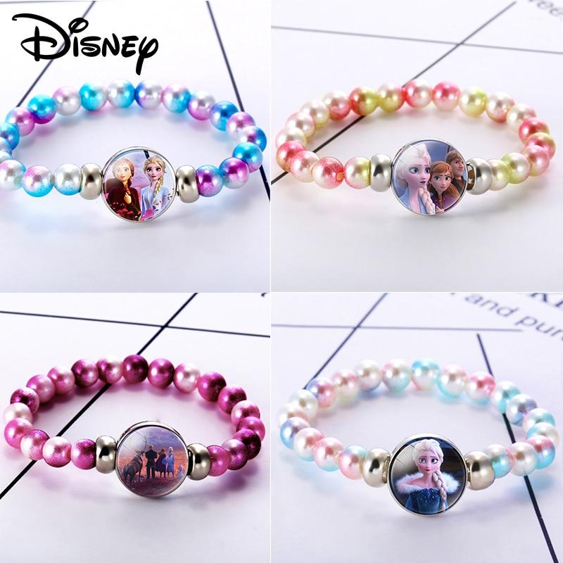 Frozen 2 Girls Jewelry Toys Fashion Girls Princess Crystal Beaded Bracelet Character Theme Children Kids Party Birthday Gift
