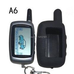 A6 pilot z wyświetlaczem lcd klucz + futerał silikonowy do bezpieczeństwa pojazdu dwukierunkowy alarm samochodowy Twage Starline A6 brelok KGB FX 3 FX3 FX 3 w Alarm antywłamaniowy od Samochody i motocykle na