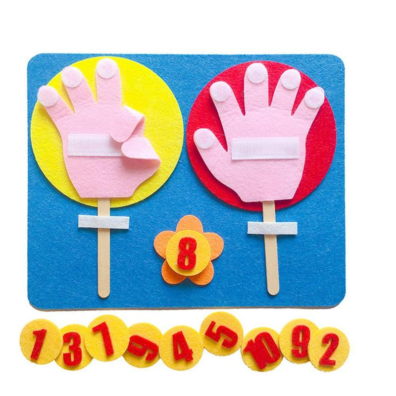 Kids Maths Toys Finger Count 1-10 Non Woven Kindergarten Learning Mathematics Educational Toy Finger Number Set Math Teach Aid