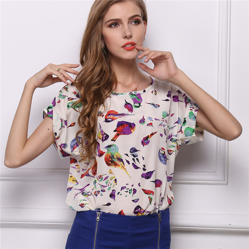 2020 New Chiffon Shirt Women Elegant Blouses Tops And Blusas Batwing Sleeve Womens Casual Shirts Outwear Cheap Clothes China