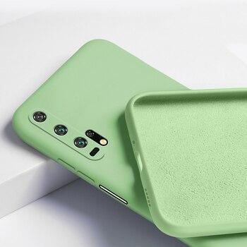 Перейти на Алиэкспресс и купить Чехол для Huawei Honor 20 Pro, жидкий силикон, матовый мягкий чехол для Honor 20 30 Pro View 30, гибкий ударопрочный чехол для телефона