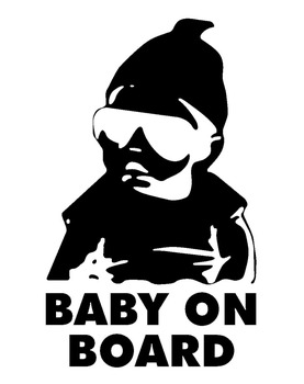 Baby Car Tip sticker BABY on BOARD Sticker Car Window Vinyl Sticker 14x9cm image