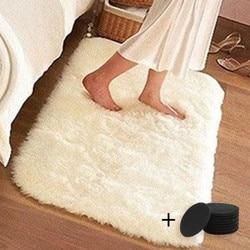 Moquette blanche longue en fausse fourrure | Tapis de chambre à coucher, Shaggy et soyeux en peluche, tapis de chevet Rectangle en peau de mouton, tapis de zone en fourrure
