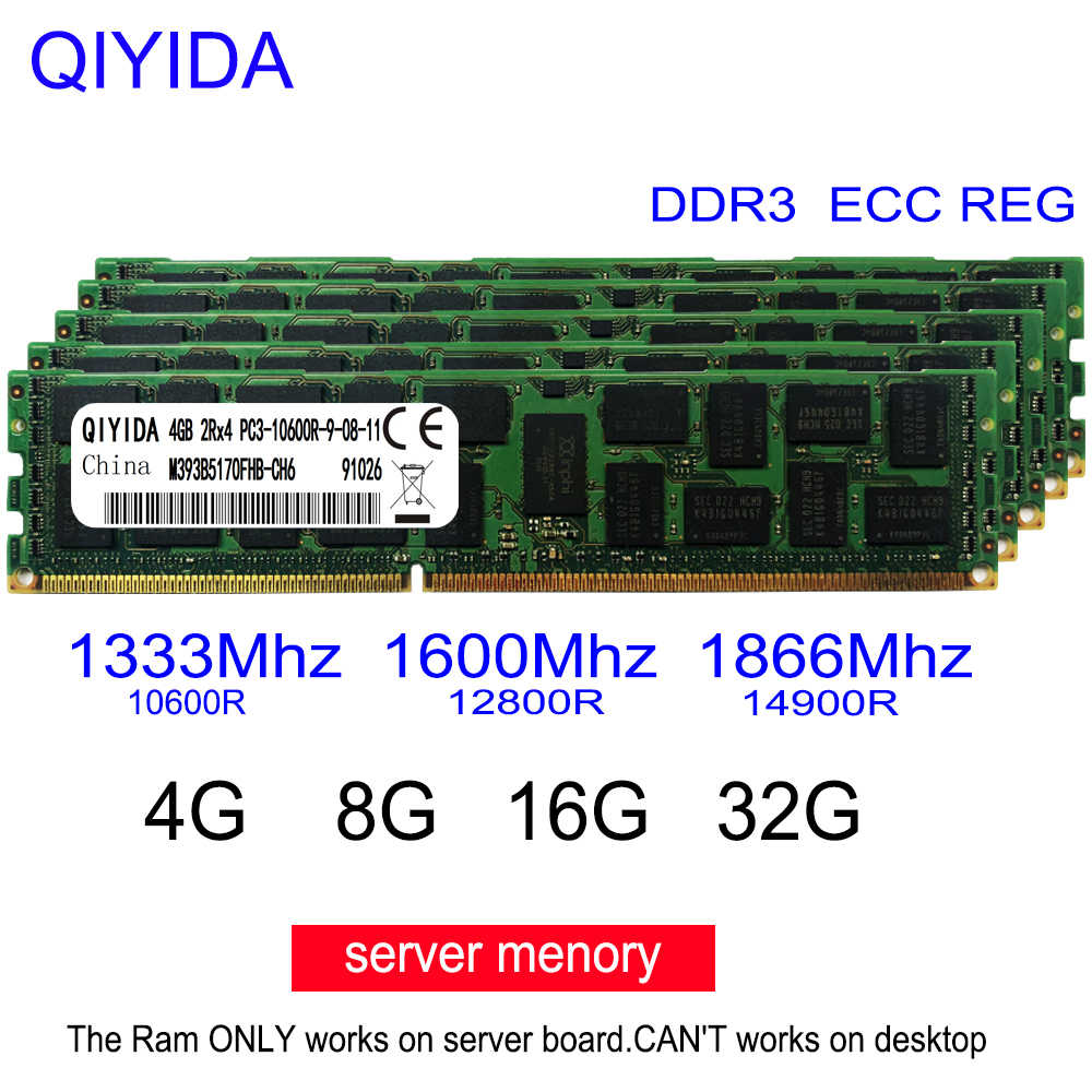 Ddr3 4gb gb 16 8 4g 8g 16g ddr3, 2rx4 PC3-10600R 12800r 14900r ecc reg memória ram do servidor 1600mhz 1866mhz pc, ram do servidor 1333