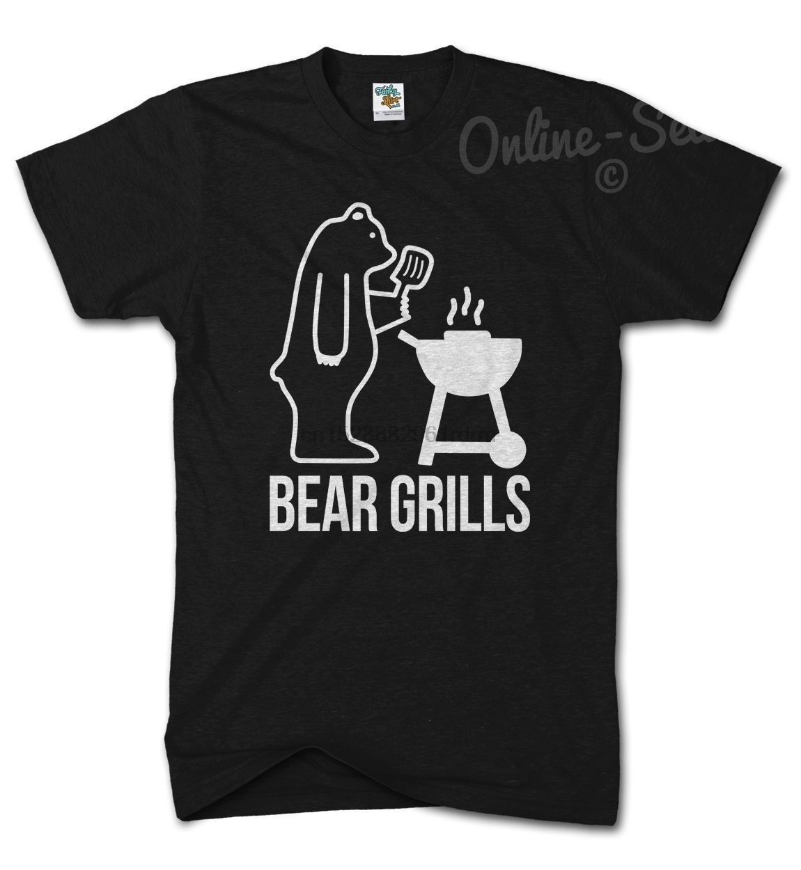 Bear BASEBALL T SHIRT Grilling Grills Funny Grylls COOL BBQ PRESENT XMAS gift