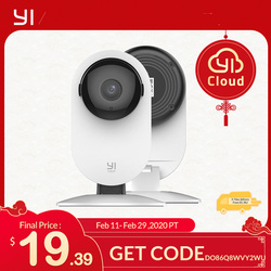 يي 1080p كاميرا منزلية كاميرا أمن داخلي نظام مراقبة مع رؤية ليلية للمنزل/المكتب/الطفل/مربية/الحيوانات الأليفة مراقب الأبيض