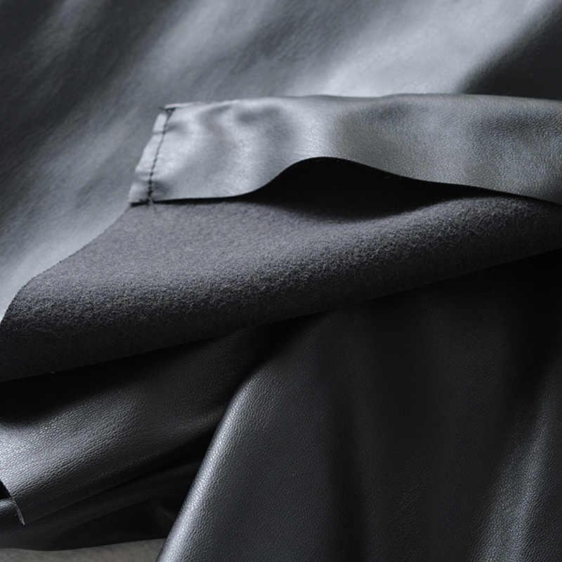 AGong jesienno-zimowa Casual Faux skórzane szorty moda damska PU skórzane krótkie damskie eleganckie spodenki na zamek damskie damskie JO