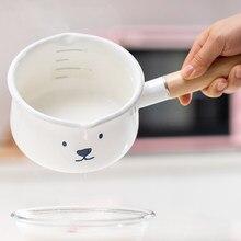 Émail ragoût Pot De lait résistant à la chaleur nouilles coréennes instantanée Pot De lait argile soupe Ustensiles De Cuisson fournitures De cuisine DE50NG