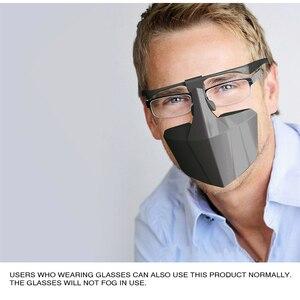 Image 1 - Пластиковая защитная маска от капель противотуманная изоляционная маска для лица воздухопроницаемая многоразовая Защитная крышка изоляционная маска