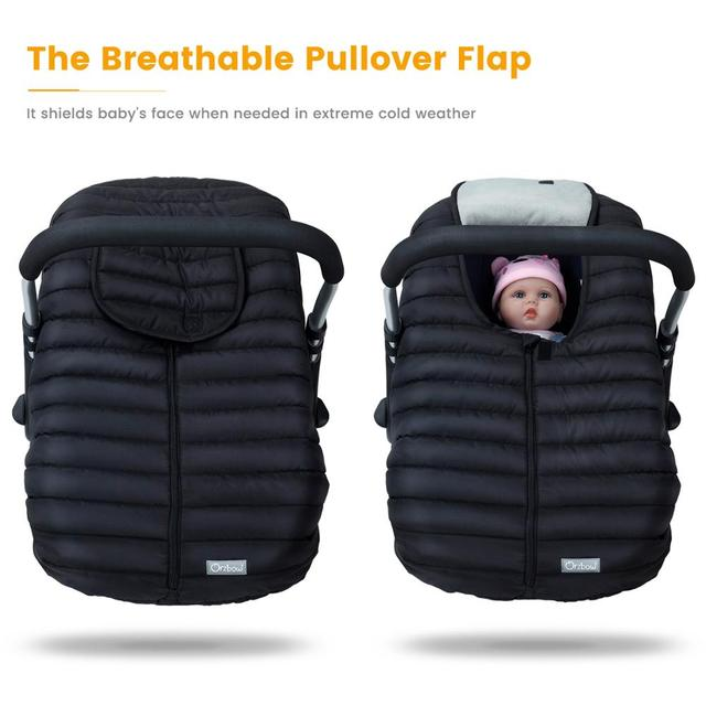 Orzbow Baby Basket Car Seat Cover Warm Newborn Infant Carrier Cover Waterproof Baby Car Seat Envelope Newborn Footmuff in Travel 2