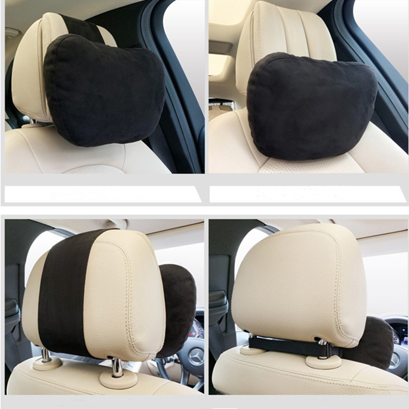 Car Seat Headrest Pillow Biological Velvet Neck Pillow Maybach Design S Class Car Neck Support Cushion Covers Headrest