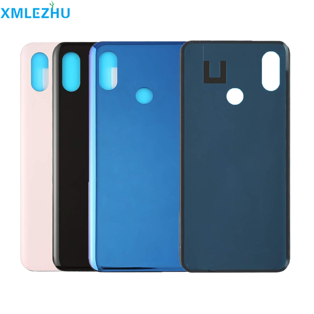 10Pcs For <font><b>Xiaomi</b></font> <font><b>Mi</b></font> <font><b>8</b></font> Lite mi8 lite <font><b>Battery</b></font> Back <font><b>Cover</b></font> Rear Door Housing Side Key Replacement Repair Spare Parts image