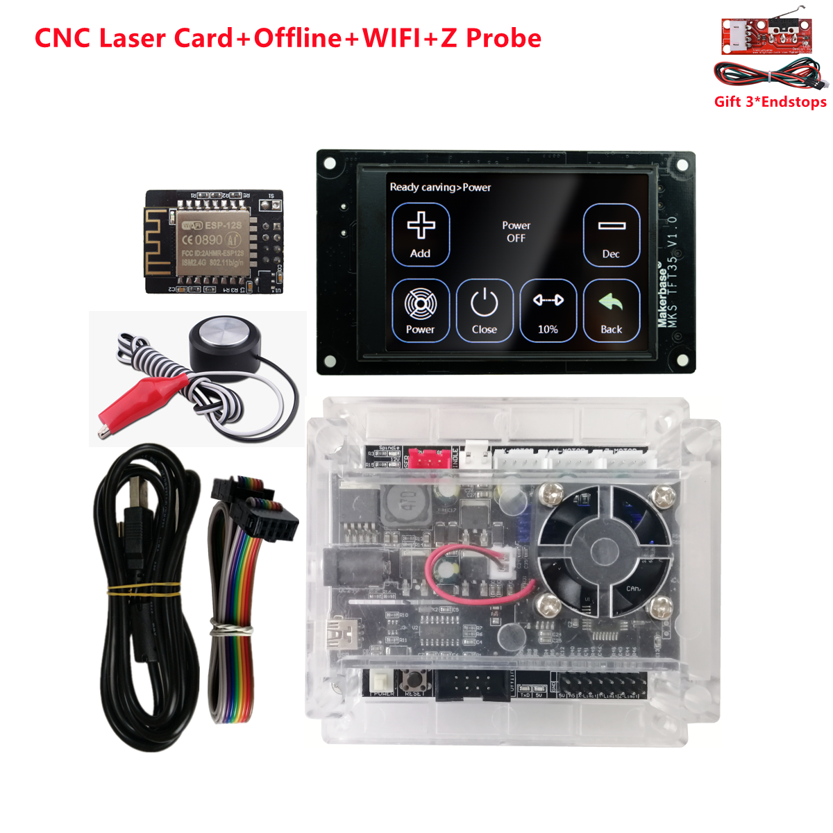 GRBL CNC laser engraving kit 3018 pro OFFLINE controllers MKS TFT 35 display 3 axis USB driver control board cnc machine parts