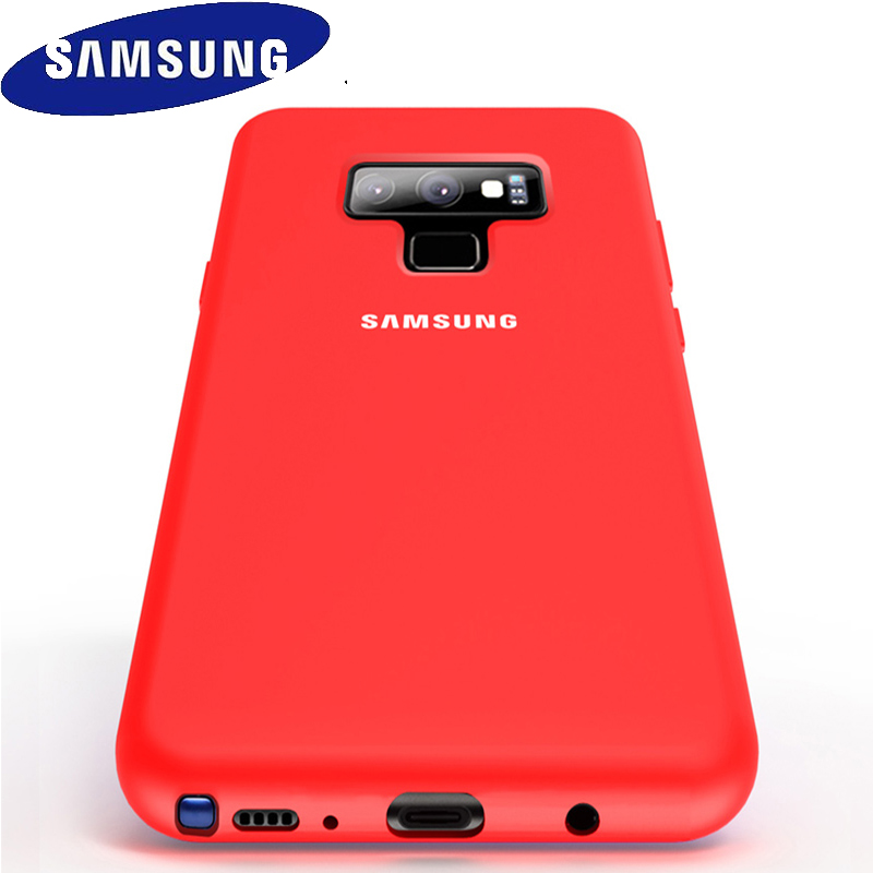 SAMSUNG Note 9 Case Official Original Silky Liquid Soft Silicone Fitted Full Back Cover Samsung Galaxy Note 8 9 Protective Case