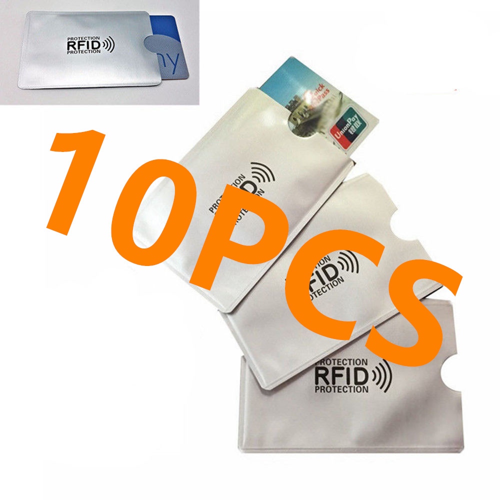 10 Or 5PCS Anti Theft For RFID Credit Card Protector Blocking Cardholder Sleeve Skin Case Covers Protection Bank Card Case New