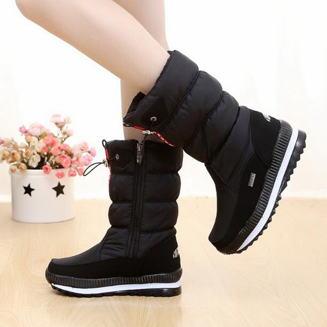 Women boots 2019 winter snow boots women waterproof non-slip thick fur Warm Winter Shoes for -35 degrees