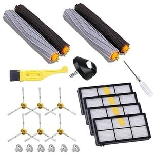 Wymiana filtra części dla Irobot Roomba serii 800 900 980 900 890 880 870 860 800 część do odkurzacza szczotki boczne filtry +