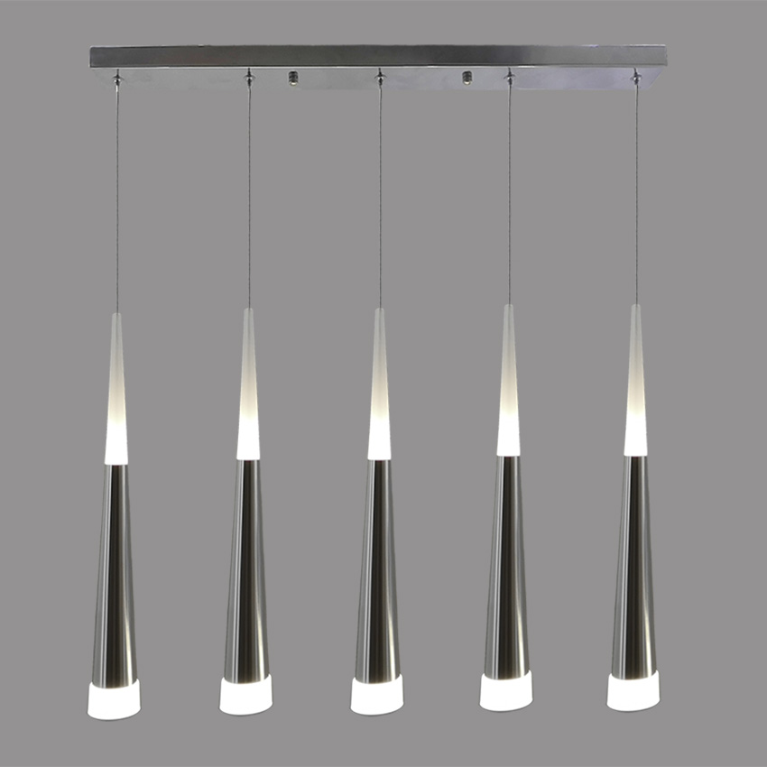 Acrylic Modern LED Pendant Light Lamp 5 Lights aluminum metal hanging lamp Dining living room restaurant kitchen Suspension lamp|metal hanging lamp|pendant light lamp|suspension lamp - title=