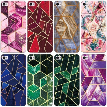 Geometric Marble Soft Phone Case for Lenovo S90 S90T S90U S 90 Funda Glossy Colorful Flower Silicone Phone Back Cover Shell image