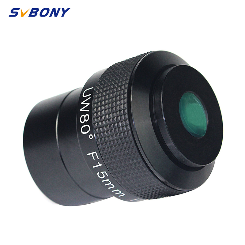 SVBONY Eyepieces Telescope Eyepiece 2inch F15mm UW80 Ultra Wide Angle 80-Deg Ultra Wide Angle FMC Eyepiece for Astronomical Telesco