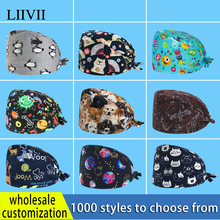 Surgical-Cap Dental-Care Laboratory-Working-Cap Salon Printed Beauty High-Quality Cotton