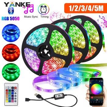 5V LED Strip Light USB SMD5050 RGB LED Bluetooth 1M 2M 3M Flexible Neon Ribbon for TV Backlight PC Screen Background Lighting