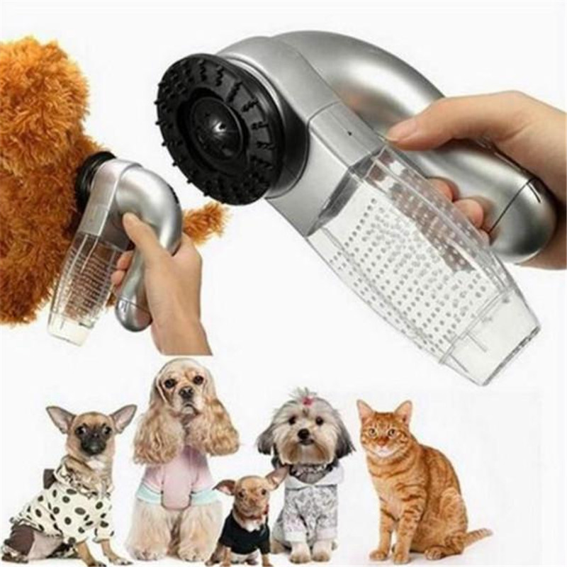 1 Pcs Portable Electric Pet Sucking Cat And Dog Massage Cleaning Vacuum Cleaner Pet Hair Stick Hair Brush Pet Cleaning Tool
