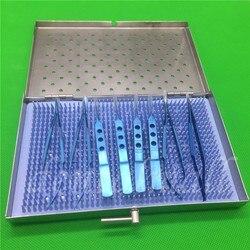 8 قطعة/المجموعة التيتانيوم الجراحة المجهرية معدات طب العيون أداة جراحية