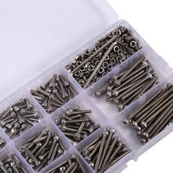 440pcs/Set M3 Screws Nuts Kits Set Stainless Steel Hex Head Socket Screws and Nuts Assortment+2 Hex Keys Fastener Hardware