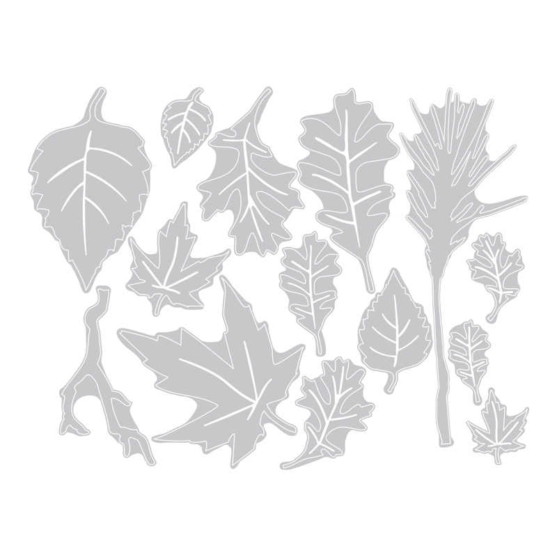 2020 New Hot Leaves 금속 절단 다이 스텐실 및 Scrapbooking 종이 메이플 리프 트리 호일 3D Die Cut Crafts Sets No Stamp