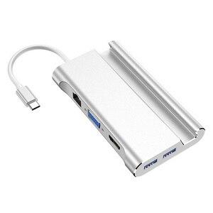 Image 4 - Bevigac 7 في 1 USB 3.0 نوع C Hub 5Gbps عالية السرعة محول oncentrator الخائن ث/4K HDMI ميناء حامل هاتف لماك بوك برو HP
