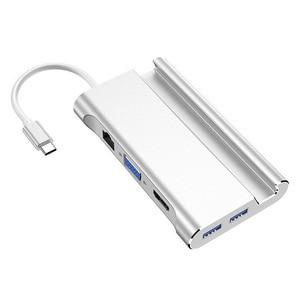 Image 4 - Bevigac 7 in 1 USB 3.0 Type C 허브 5Gbps 고속 oncentrator 어댑터 분배기 (Macbook Pro HP 용 4K HDMI 포트 폰 홀더 포함)